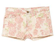 Current/Elliot Floral Denim Shorts