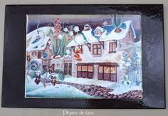 Tableau Maison des Contes en lave émaillée de volvic : Décorations murales par pepite-de-lave