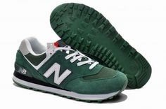 Joes New Balance ML574CPY Sneakers Suede Hunter Green White Mens Shoes