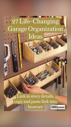Garage Tools, Garage Shop, Garage Workshop, Workshop Organization, Garage Organization, Organizing, Diy Garage Storage, Shop Storage, Wood Projects