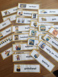 Minions dagritme kaartjes