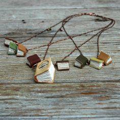 Little Book Necklaces