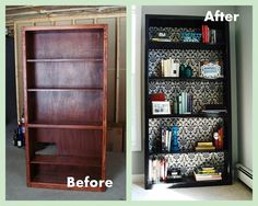 Furniture redos before and after | Office bookcase {before and after}.