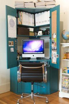 corner computer cabinet by alicia