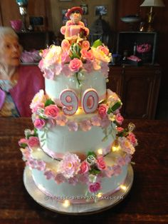 90th Birthday Cake 90 birthday Birthday cakes and Birthdays