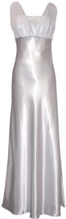 Satin Chiffon Prom Dress Holiday Formal Gown Crystals Full Length Junior Plus Size,$69.99$69.99