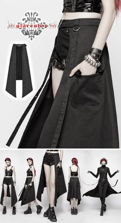 Gothic Outfits, Edgy Outfits, Mode Outfits, Fashion Outfits, Womens Fashion, Cosplay Outfits, Anime Outfits, Mode Harajuku, Kawaii Clothes