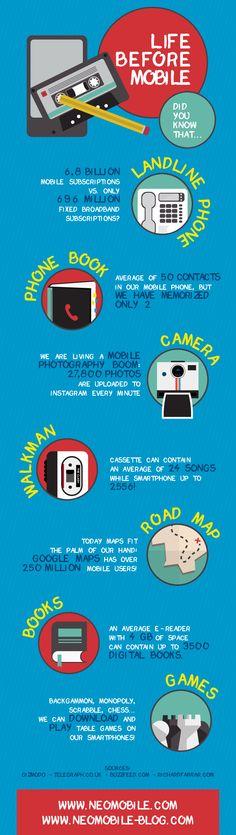 La vida antes del móvil  #infografia #infographic