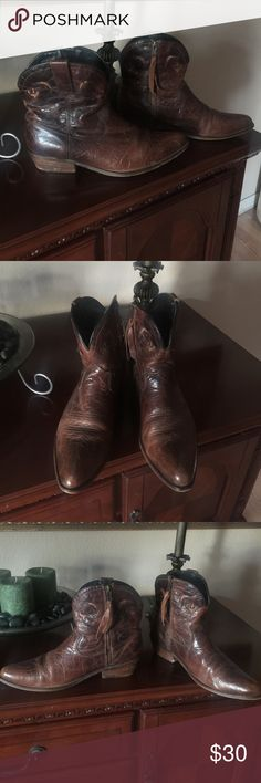 Western style Short leather boots in great used condition. Size 9 Shoes Ankle Boots & Booties