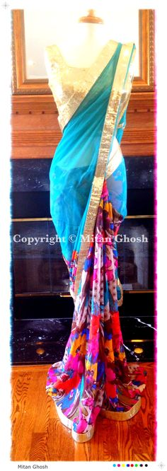Georgette printed saree with Chiffon Palla.
