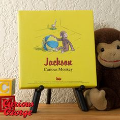 Curious George® Personalized Canvas Print