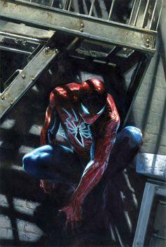 Spider-Man by Alex Ross (Marvel comics) Marvel Comics, Comics Spiderman, Heros Comics, Bd Comics, Ms Marvel, Marvel Heroes, Batman, Comic Book Characters, Comic Book Heroes