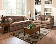 England Furniture 2930 with Courtland Maple and Pearce Chestnut fabrics