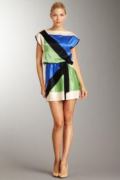 Robert Rodriguez Sheer Striped Silk Shift Dress on HauteLook
