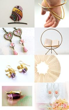 Featuring the purple Charlotte earrings