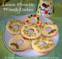 Simply Sweet 'n Savory: Lemon Pistachio Wreath Cookies