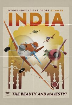 #DisneyPlanes India Vintage Travel Poster