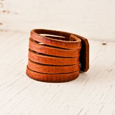 Brown Leather Jewelry Cuffs Bracelets for Women Fashion Accessories - Wrist Bands