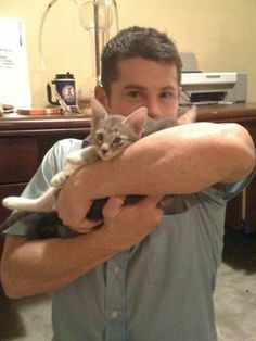 Evan Bourne and his cats