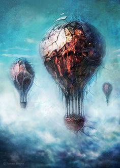 Balloons, TomekBiniek.com  #sullen #darkart #horror #art #artist #etsy #artgallery #graphic #creepy #gore #followme #patreon #Etsy #modernart #surrealism #digital #painting #drawing #graphic #instaart #illustration #conceptart #game #signed #print #Tomek #Biniek #Szczecin #Poland #artwork