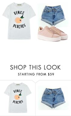 """S U N"" by qxeen-anii on Polyvore featuring Être Cécile, Levi's, Summer, stylish, sundance and unicornmakeup"