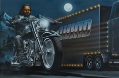 artist david mann biography | ... Editions - All Artwork - David Mann - Motorcycle Art | Fine Art World