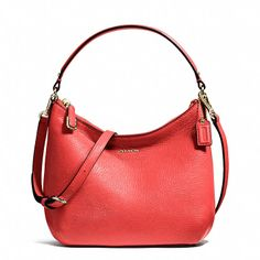 Coach  MADISON TOP HANDLE POUCH IN LEATHER