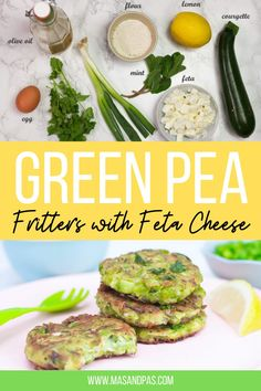 These green pea fritters are so easy to make! Perfect for breakfast, brunch, lunch or dinner and even for toddler meals and snacks! They require very few ingredients, which you probably already have on hand. A great little frozen peas recipe - sweet green pea fritters made with mashed peas, grated courgette and feta cheese. #toddlersnackideas #toddlersnacks #greenpea #peafritters #peaandfetafritters Pea Recipes, Lunch Box Recipes, Baby Food Recipes, Vegetarian Recipes, Healthy Recipes, Healthy Snacks, Healthy Eating, Healthy Toddler Meals, Toddler Snacks