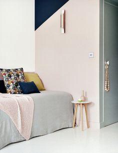 my scandinavian home: The perfect boutique design hotel for a surprise? Hotel Henriette Paris, Casa Bonay, Deco Rose, Paris Decor, Block Wall, Pink Walls, Pastel Walls, Scandinavian Home, Home Decor Inspiration