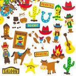 Cowboy Foam Stickers