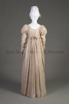 Day Dress (image 5) | English | 1808-1812 | cotton | Kent State University Museum | Object #: 1983.001.0028