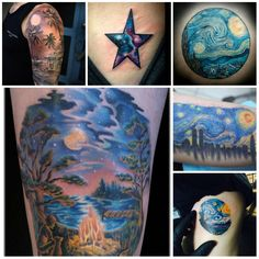 42 Best Starry Night Tattoos For Women Images Amazing Tattoos