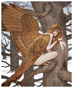 Harpies are the spirits of sudden sharp gusts of wind. They are winged monsters with the face of an ugly old woman & are equipped with crooked, sharp talons. They carry off persons to the underworld & inflict punishment on them or torment them. Those persons are never seen again.