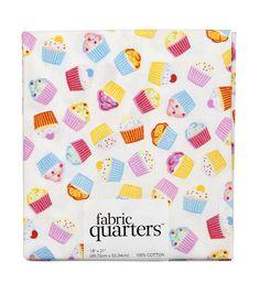 Fabric Quarters Assorted Fabric CupcakeFabric Quarters Assorted Fabric Cupcake,