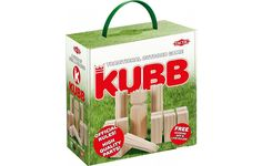 Buy Kubb or Stickey Sticks in English. The traditional Swedish lawn game where the objective is to knock over wooden blocks (kubbs) by throwing wooden batons (kastpinnar) at them.