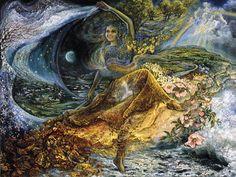 Wall Painting Dance Of Seasons Art Fantasy Josephine   Wallpaper