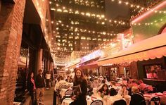 """It's hardly a secret for longtime city dwellers, but if you're new to San Francisco, be sure to visit Belden Place. The """"French Quarter of San Francisco"""" is a lovely little alley off the Financial District filled with European-style dining. At night, it's magical."""