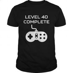 Level 40 Complete Video Games 40th Birthday - #mens #mens shirts. CHECK PRICE… https://www.birthdays.durban