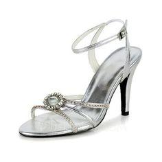 Wedding Shoes - $60.99 - Women's Leatherette Stiletto Heel Sandals With Buckle Rhinestone (047039619) http://jjshouse.com/Women-S-Leatherette-Stiletto-Heel-Sandals-With-Buckle-Rhinestone-047039619-g39619