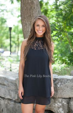 The Pink Lily Boutique - It's Only The Beginning Black Halter Dress, $38.00 (http://thepinklilyboutique.com/its-only-the-beginning-black-halter-dress/)