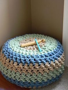 The Lucky Hanks Signature Crochet Pouf pattern