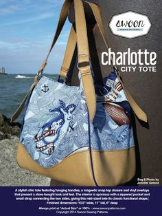 Looking for your next project? You're going to love Swoon Charlotte City Tote by designer Swoon Patterns.