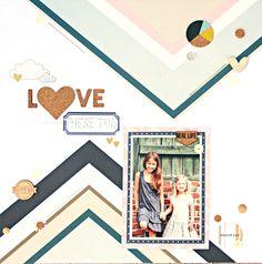 Love These Two Scrapbook Layout by Heather Leopard #scrapbooking #scrapbook Gossamer Blue #gossamerblue