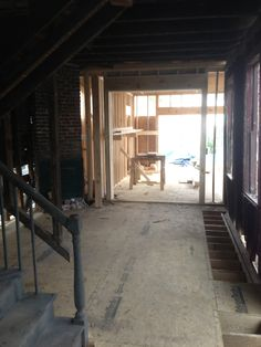 First floor floors were removed and new ones set in. Sometimes the old has to be replaced no matter how much we try to save the structure's historical integrity.  Leaning and weak floors are not a clever build decision and will not last so best repair while we can.