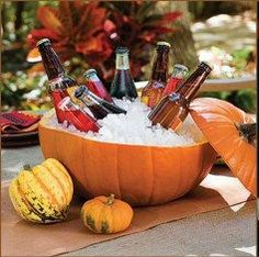 Fall Wedding Pumpkin Cooler