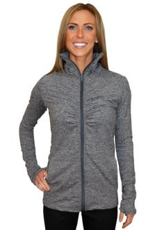 Impact Fitness - Ruching Remix Jacket, Women`s Limited Edition Brushed Workout / Running / Active Jacket, Made In USA $105.00 #bestseller