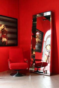 The ultimate red chairs and sofa inspiration collection! Make a singular statement by using red sparingly with a single dose, containing it all to a Decor, Red Chair, Home Interior Design, Store Decor, Inspiration, Red Interiors, Luxury Interior, Interior Design, Sofa Inspiration