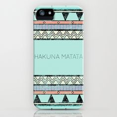 Hakuna Matata iPhone Case by Lala - $35.00    (I just picked a random one, but I love all of their phone and computer cases! And it might be smart seeing as I don't have any sort of protection for my technology and I'm really clumsy.....)