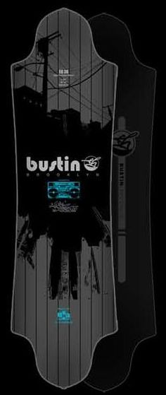 """Bustin EQ 36"""" Longboard Skateboard Deck Only With Grip $129.95 at Action Board Sports www.absboards.com"""