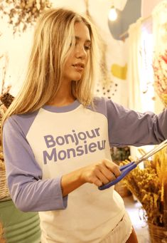 34518 t shirt monsieur mundo lolita 05 Blues, T Shirts For Women, Fashion, Neckline, Sleeves, Moda, Fashion Styles, Fashion Illustrations